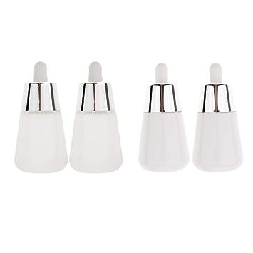 Homyl 4 Unids 30ml Botella de Vidrio Envase de Perfume Recipientes de Líquidos Tarros Tubos: Amazon.es: Belleza