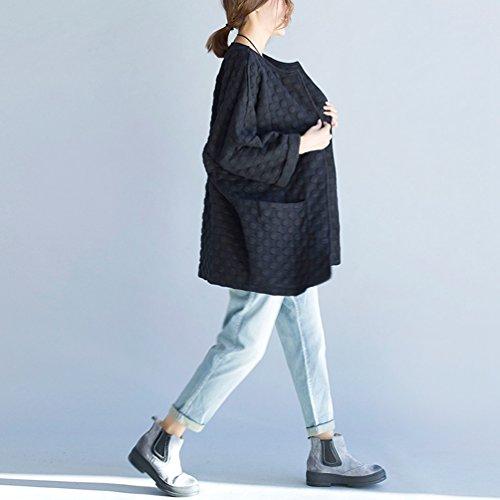 Con Casuale Jeans Elastica Chiaro Donna Donne Retro Wanyang Vita Grande Blu Pantaloni Dimensione Denim Moda pzgw17q