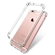 iPhone 6 Case Clear iPhone 6s Case Clear, Corners Air Cushion TPU Anti-vibration iPhone Case, Four Corner Full Protection Abrasion Resistant (Crystal Clear) (iPhone6/6s)