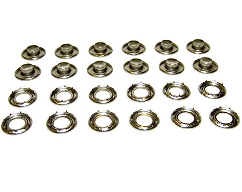 Grommets, 4Rolled Rim Spur, Stainless Steel, Heavy Duty, 12 Piece Set