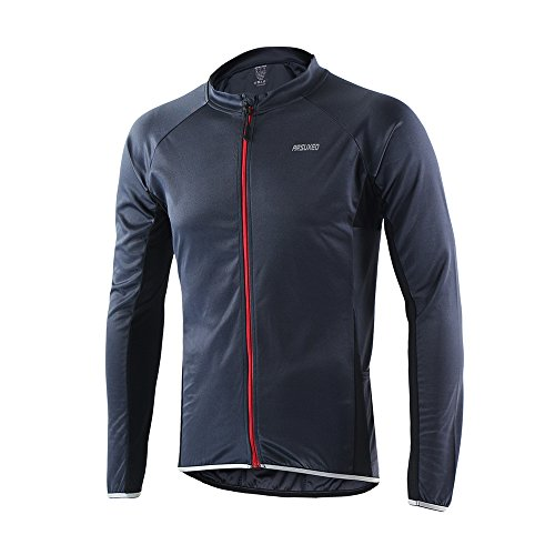 ARSUXEO Outdoor Sports Men's Cycling Jersey Long Sleeves Bike Bicycle MTB Shirts 6022