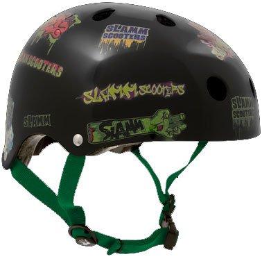 Helm für Skater,Scooter,Biker (Helm - Black Sticker, S - M / 53 - 56 cm)