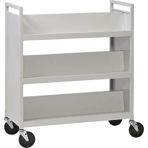 Sandusky Buddy 3-Shelf Library Cart, Model# 5416-32 by Sandusky