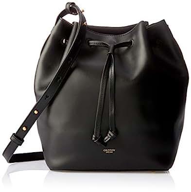 Oroton Women's Escape Medium Bucket Bag, Black, One Size