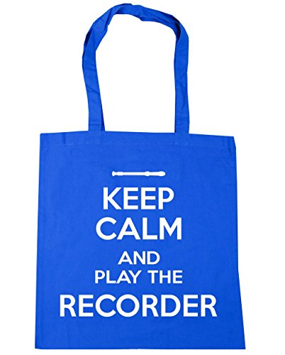 Gym Tote Cornflower Beach Bag Keep x38cm HippoWarehouse 10 litres Play Blue 42cm the Shopping and Calm Recorder nfnqwU8Y