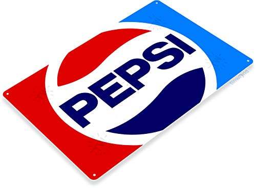 (Tinworld Tin Sign Pepsi Cola Retro 80's Soda Cola Metal Sign Decor A139)