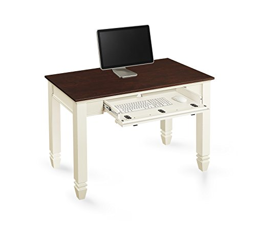 Whalen Furniture ECOM-WCWD Writing Desk, 48-Inch, White/Cherry