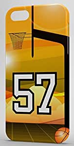 Basketball Sports Fan Player Number 57 Snap On Decorative iPhone 5/5s Case