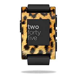 Mightyskins Protective Vinyl Skin Decal Cover for Pebble Smart Watch wrap sticker skins Cheetah
