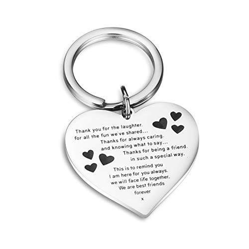 Best Friend Keychains (CJ&M Best Friend Bracelets - Side by Side Or Miles Apart Compass Best Friends Bangle Bracelets Adjustable,Long Distance Friendship Gifts,Sister Gift Jewelry)