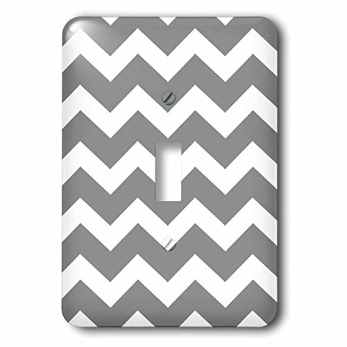 3dRose Charcoal grey and white zig zag chevron. Dark Gray zi