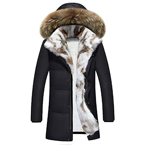 Allywit Men's Hooded Faux Fur Lined Warm Coats Outwear Winter Jackets Big and Tall