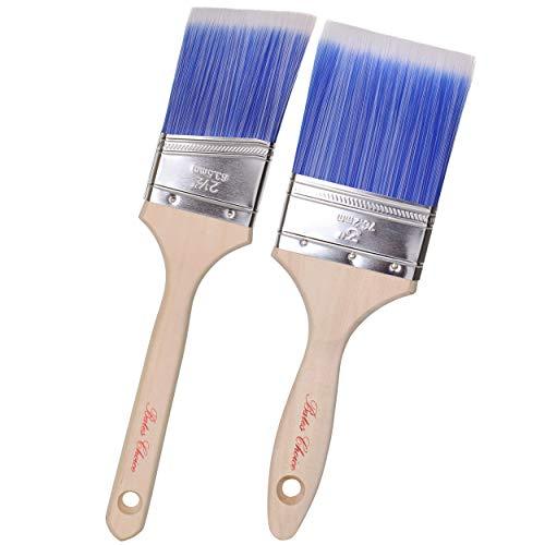 Bates Paint Brushes- 2 Pack, Wood Handle, Paint Brush, Paint Brushes Set, Professional Brush Set, House Paint Brush…