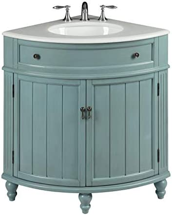 24 Vintage Light Blue Cottage Style Thomasville Bathroom Sink Vanity Model GD-47544BU