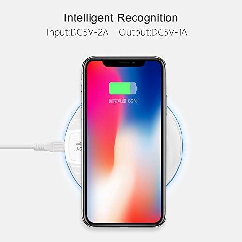 2パックの無接点充電パッド、10W急速充電パッド、チー認定、互換三星S10 / S10 / S9 / S8 / S7 /注記10/9/4 / iPhone 11/11のPro / 11プロ最大/ XS最大/XS/XR