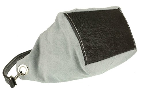 Womens Shoulder Bag Craze Grey Genuine Tote Handbag New Leather Suede London 7xqSfR