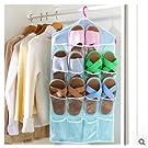 16 Pockets Hanging Over Door Wall Sock Baby Shoe Organiser Storage Tidy Rack Space Saver(not Included Hanger)