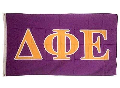 Delta Phi Epsilon Letter Sorority Flag Greek Letter Use as a Banner 3 x 5 Feet Sign Decor DPhie