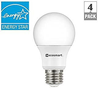 (4-Pack) EcoSmart LED A19 Dimmable 40W Replacement in Soft White (15,000 Hours, 2700K, 5.6W, Energy Star, E26)