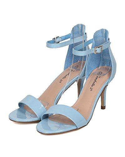 Sandalo Stiletto Breckelles Donna - Elegante, Formale, Da Sposa - Cinturino Alla Caviglia - Gh05 Dal Blu