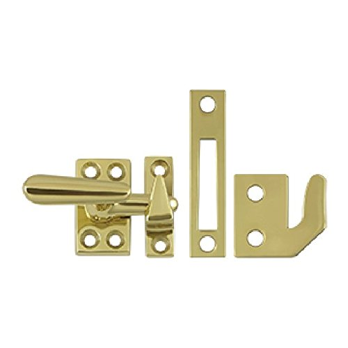 Deltana CF066U3 Casement Fastener Window Lock, Small - Polished Brass Casement Fastener
