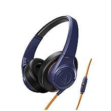 Audio Technica ATH-AX3iS Sonicfuel Over-Ear Headphones for Smartphones-Navy