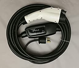 Level 2 Portable Electric Car Charger 240Volt16Amp Duosida (NEMA 6-20Plug uses 20Amp outlet) Standard U.S. J1772 25\' Long Cord WORKS WITH MOST US ELECTRIC & PHEV VEHICLES BEST BUY!