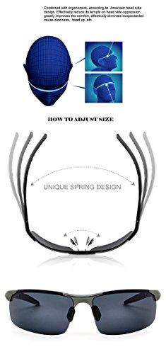 c213ed2b78 Ronsou Men Sport Al-Mg Polarized Sunglasses Unbreakable For Driving Cycling  Fishing Golf gray frame