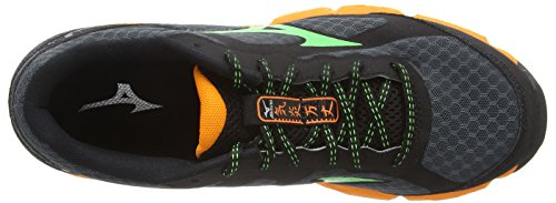 Mizuno Wave Kien, Scarpe da Corsa da Uomo Multicolore (Turbulence/Classic Green/Orange Popsicle)
