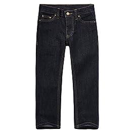 Boys Denim Jeans Pants with Regular Fit Stretch Straight Leg