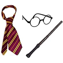 WeeZ Industries Harry Potter Bundle with Wand Glasses and Tie