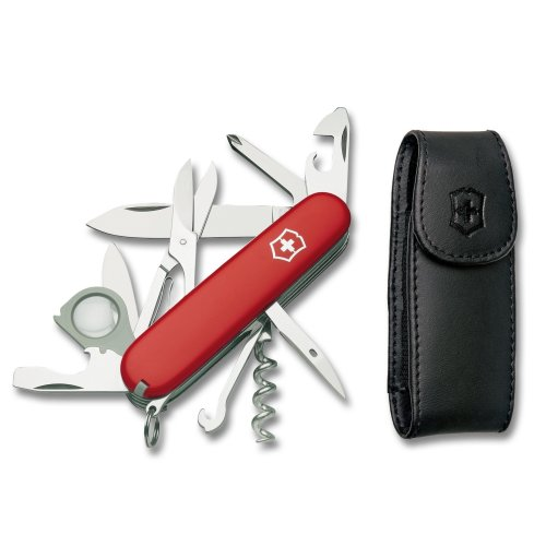 Victorinox Swiss Army Explorer With Free Pouch Red Camp