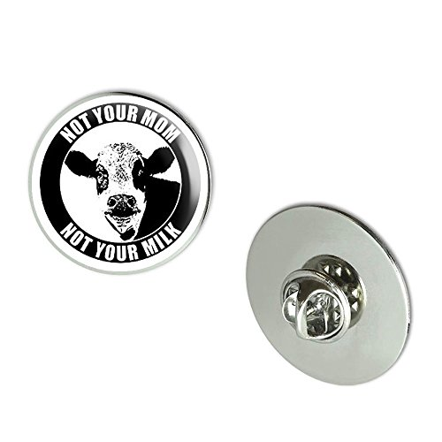 NYC Jewelers Round NOT YOUR MOM NOT YOUR MILK (organic vegan cow face) Metal 0.75