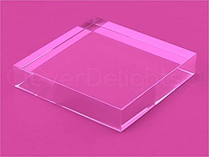 Amazoncom Pack CleverDelights Inch Square Glass Tiles - Clear glass tiles 4x4