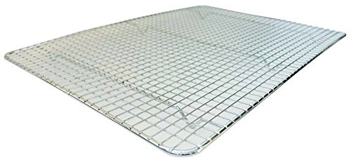 Commercial Cross Wire Cooling Rack Half Sheet Pan Grate - 16-1/2' x 12' Drip Screen 2 Pack