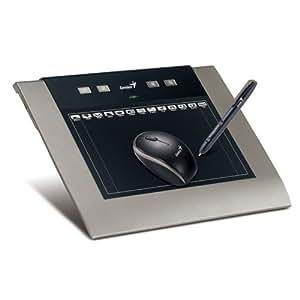 Genius MousePen M508WX - Tablet gráfico inalámbrico, color negro y plata