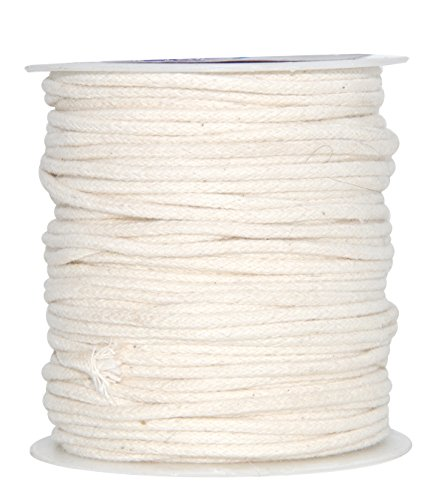Mandala Crafts Soft Drawstring Replacement Rope Upholstery Crochet Macramé Cotton Welt Trim Piping Cord (Natural, 2mm) (Trim Twist Cord)