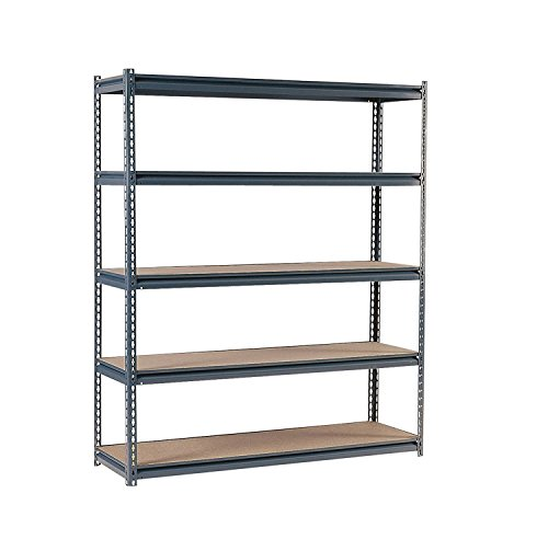 Edsal UR2472 Industrial Gray Shelving, 16-Gauge Steel, 5 Adjustable Shelves, 700 lb. Capacity, 72