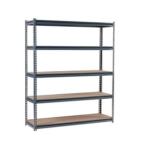 Edsal UR2472 Industrial Gray Shelving, 16-Gauge Steel, 5 Adjustable Shelves, 700 lb. Capacity, 72