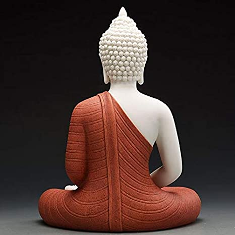 CQOZ Ceramic Southeast Asian Buddha Statue Sakyamuni Statue Feng Shui Statue Crafts Decoration Home Office Decoration 23/×30cm Color : A