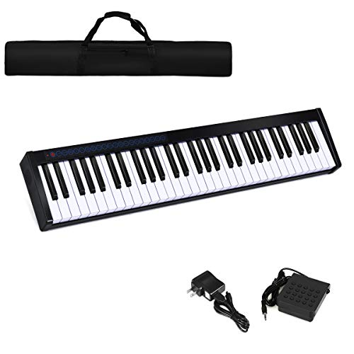 Sale!! Costzon 61-Key Portable Touch Sensitive Keys Digital Piano, Upgraded Premium Electric Keyboar...