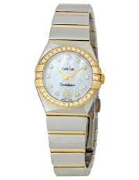 Omega Women's 123.25.24.60.55.007 Constellation '09 Diamond Bezel Mother-Of-Pearl Dial Watch