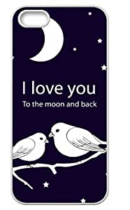 Famous Popular I Love You to the Moon and Back iPhone 5/5s Back Case For Fans Design