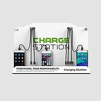 Wall Mount 8 Ports Cell Phone Fast Charging Station For Famil Business Public Community Compatible With Iphone Ipad Samsung Htc Tablets And More Electronics