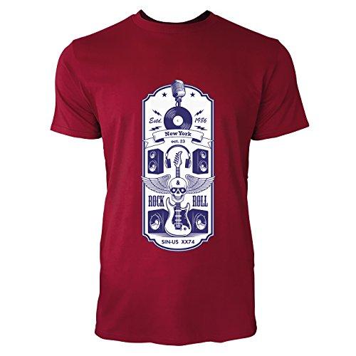 SINUS ART® Vintage Motorcycle Riders Herren T-Shirts in Independence Rot Fun Shirt mit tollen Aufdruck