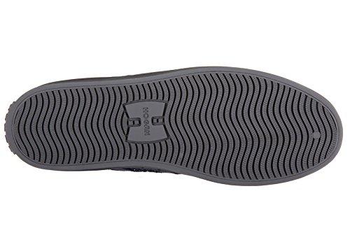 Hogan Rebel Damenschuhe Damen Wildleder Schuhe High Sneakers r141 laterale paill