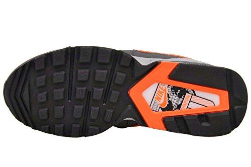 Nike Mens Air Max St Nero / Iper Cremisi / Grigio Scuro Scarpa Da Corsa In Pelle Alla Caviglia - 12m Nero