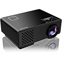 Projector, DBPOWER RD-810 LED Portable Projector, Multimedia Home Theater Video Projector Supporting 1080P with HDMI USB VGA AV for Home Cinema TV Laptop Game iPhone Andriod Smartphone, Black
