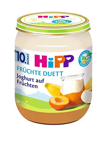 Hipp Frü chte-Duett Joghurt Bio auf Frü chten, 160 g 5475