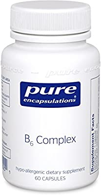 Pure Encapsulations - B6 Complex - Hypoallergenic B Vitamin Formula with Enhanced B6 - 60 Capsules
